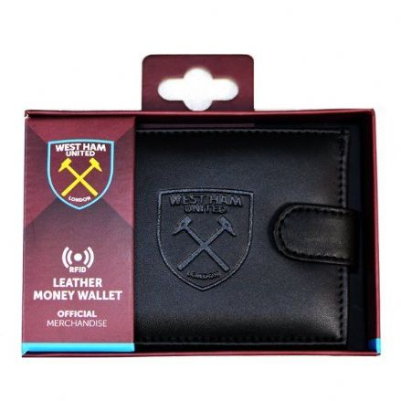 West Ham United RFID Embossed Leather Wallet
